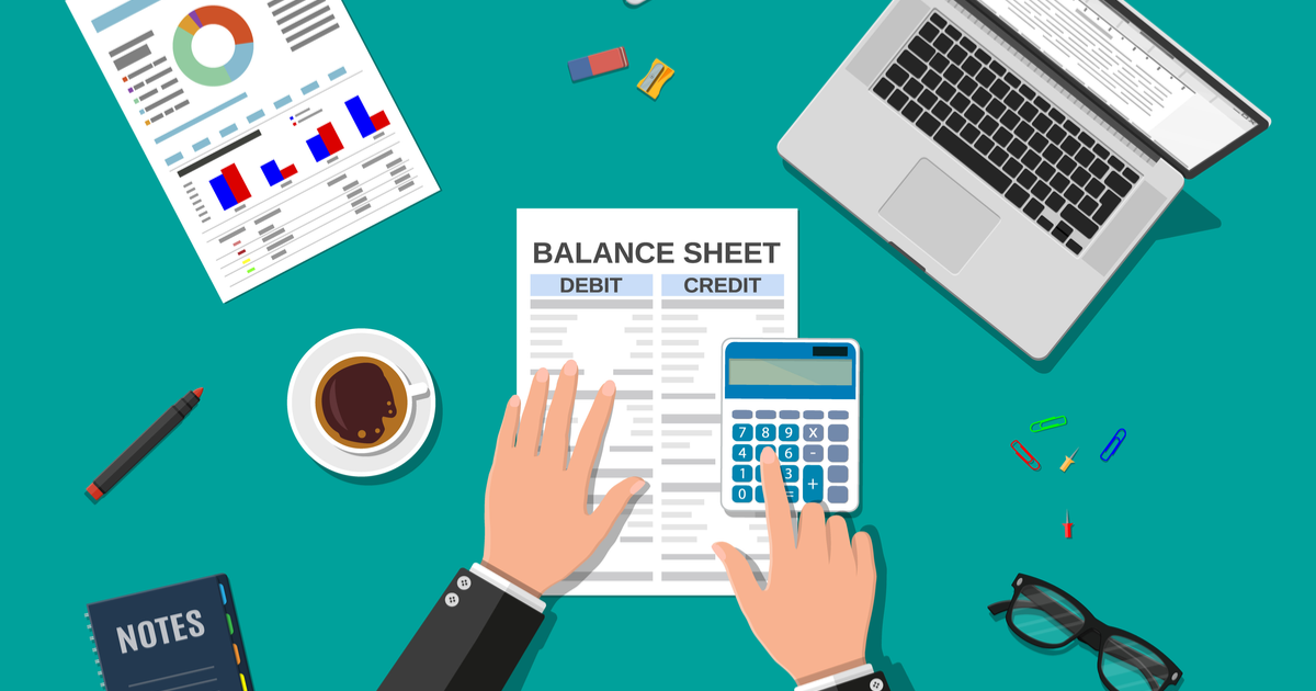 Business owner handling bookkeeping