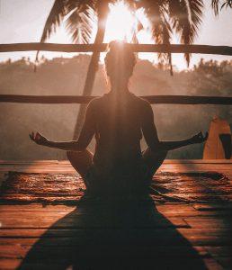 entrepreneur meditates