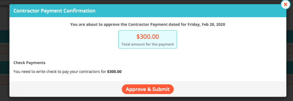 Paying Contractors
